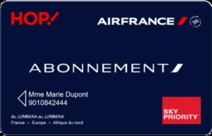 Carte d'abonnement AirFrance